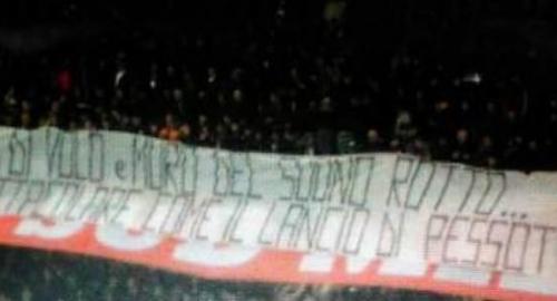 Milan-Juventus: striscione indegno contro Pessotto!